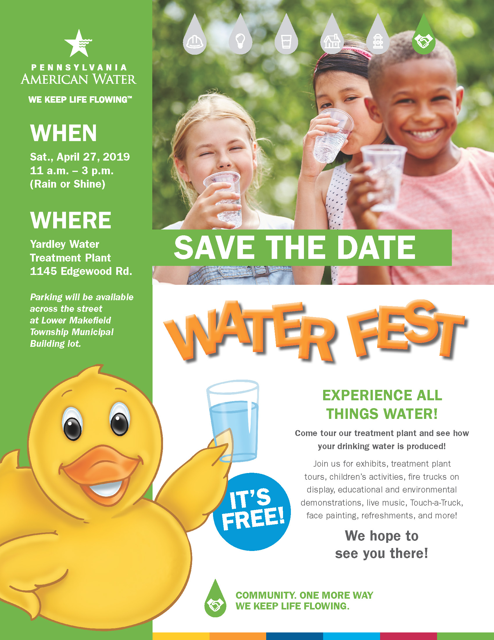 Yardley Water Fest Flyer - 8.5 x 11 - PA